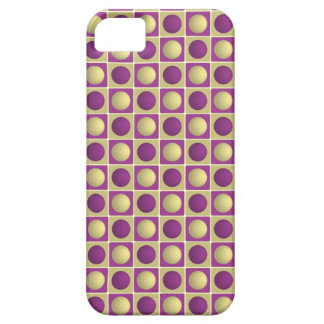 Buttons in Squares Purple iPhone 5 Case