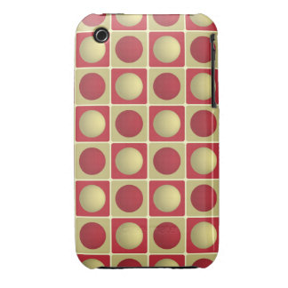 Buttons in Squares Red iPhone 3G 3Gs Case iPhone 3 Cases