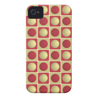 Buttons in Squares Red iPhone 4 Case