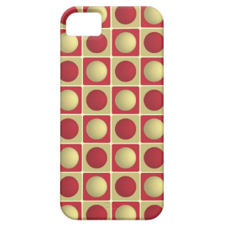 Buttons in Squares Red iPhone 5 Case