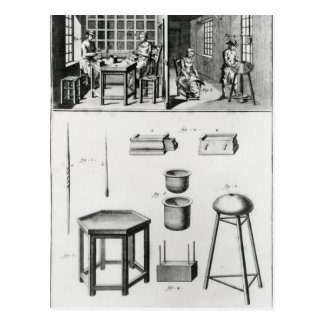 Buttons maker & lace maker postcard