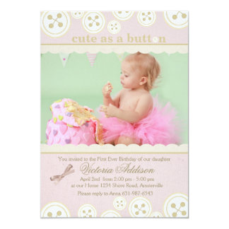 Buttons 'n Bows Photo Invitation