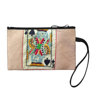Buttons of different shapes and colors coin purse