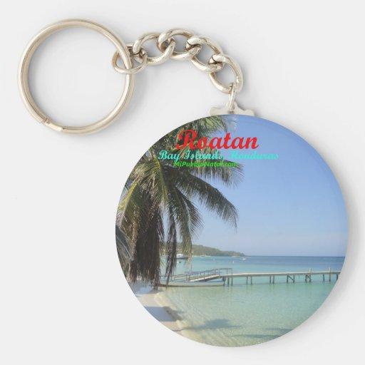 Buttons of Roatan, Bay Islands, Honduras Key Chain