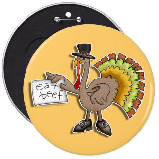 Buttons, Pins, Badges - Thanksgiving Turkey Button