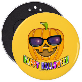 Buttons, Pins - Cool JACK O'Lantern