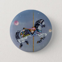 Buttons, Pins - Grey Mare Carousel Horse