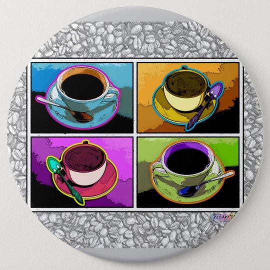 Buttons, Pins - Java Addictions Pop Art