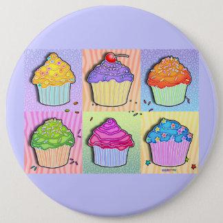 Buttons, Pins - Pop Art Cupcakes