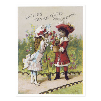 Button's Raven Gloss Shoe Dressing Postcard