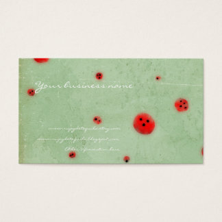 Buttons red aqua distressed handmade business card