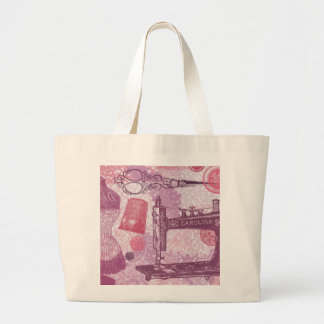Buttons, scissors and fabric   Tote Bag