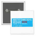 boothtown boys  brigade  Buttons (square)