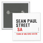 Sean paul STREET   Buttons (square)