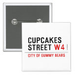 cupcakes Street  Buttons (square)
