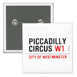 piccadilly circus  Buttons (square)