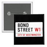 Bond Street  Buttons (square)