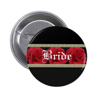 Buttons template - customizable red roses