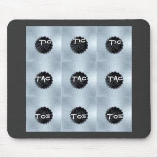 buttons, Tic, Tac, Toe, Tic, Tic, Toe, Toe, Tac... Mouse Pad