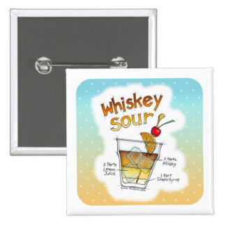 BUTTONS - WHISKEY SOUR RECIPE COCKTAIL ART