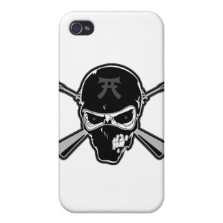 Buttstock Skull & Crossed Rifles iPhone 4 Covers