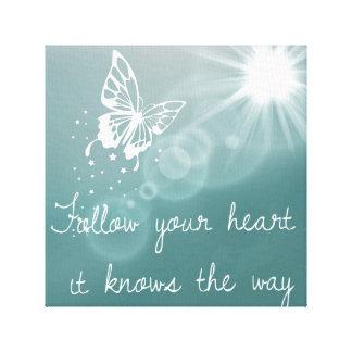 Buttterflies know.... canvas print