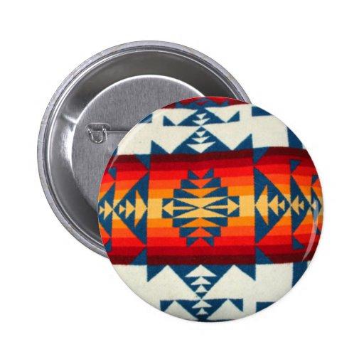 Buttton de la impresión de Pendleton Pin Redondo De 2 Pulgadas