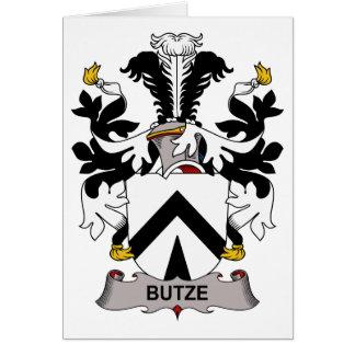 Butze Family Crest Card