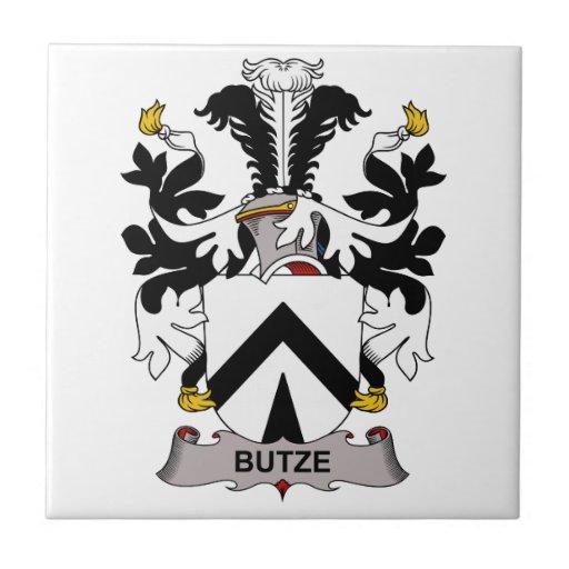 Butze Family Crest Small Square Tile