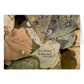 BUUF Gardens: Autumn Leaves Card