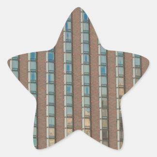 buuildings pegatina en forma de estrella