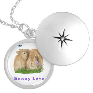 buuny love silver plated necklace