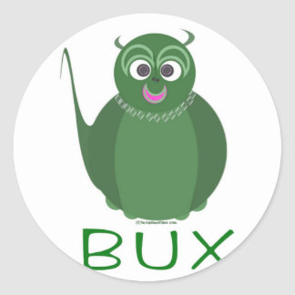 BUX PLAIN CLASSIC ROUND STICKER
