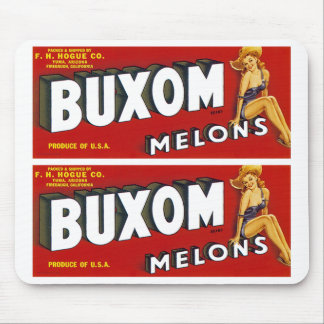 Buxom Mellons Mouse Pad