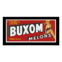 Buxom Melons Poster