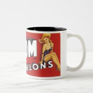 Buxom Melons Two-Tone Coffee Mug
