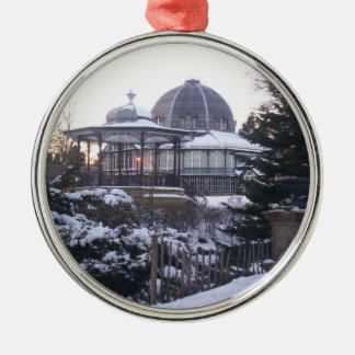 Buxton Opera House in snow Metal Ornament