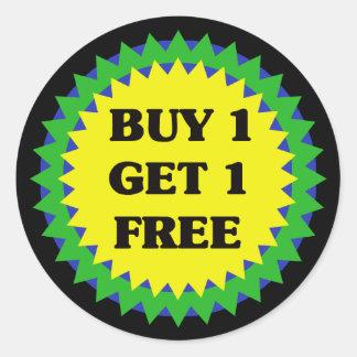 BUY 1 GET 1 FREE RETAIL SALE Sticker