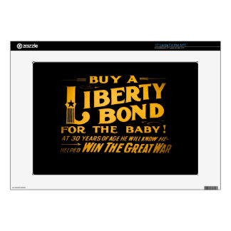 """Buy A Liberty Bond for the Baby World War I Skins For 15"""" Laptops"""