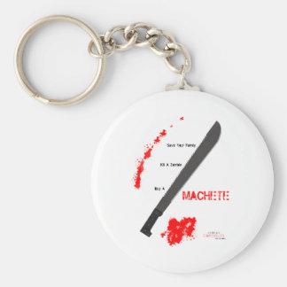 Buy a Machete Basic Round Button Keychain