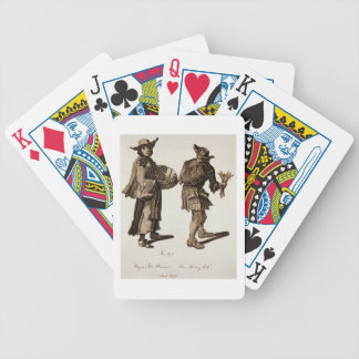 'Buy a new Almanac! Fine writing ink!', illustrati Bicycle Playing Cards