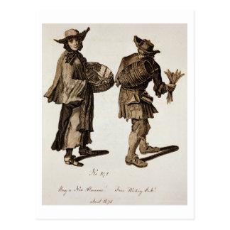 'Buy a new Almanac! Fine writing ink!', illustrati Postcard