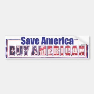 buy American 2 Car Bumper Sticker