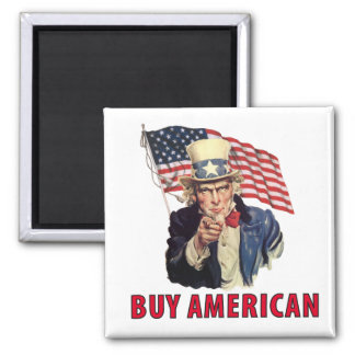Buy American 2 Inch Square Magnet