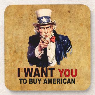Buy American Beverage Coaster