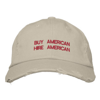 Buy American Hire American Quote Trump Patriot Embroidered Hat