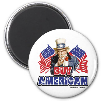 Buy American (Made In China) 2 Inch Round Magnet