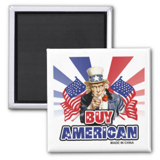 Buy American (Made In China) 2 Inch Square Magnet