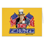 Buy American (Made In China) Greeting Cards