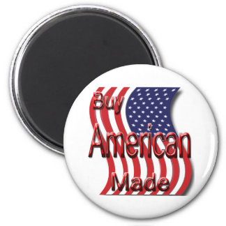 Buy American Made red 2 Inch Round Magnet